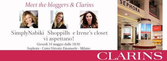 Evento Clarins con le blogger