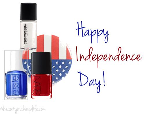Nail Art bandiera americana 4 luglio