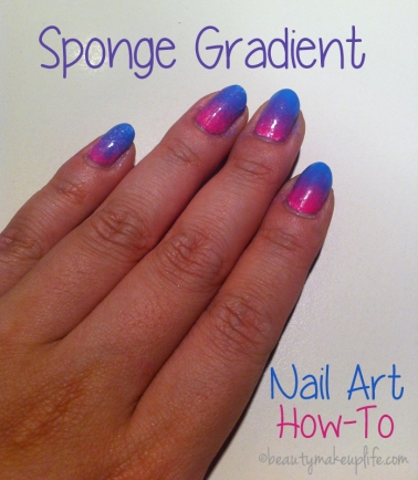 sponge gradient nail art tutorial